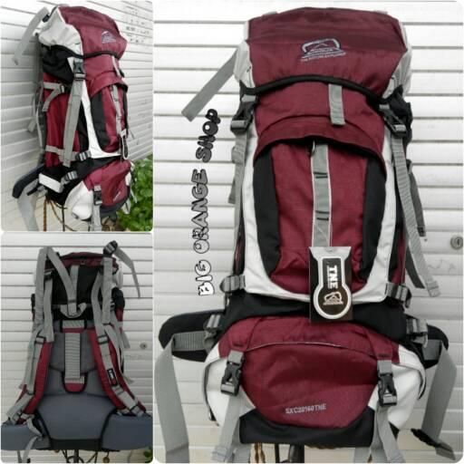 Tas Gunung Shioux 60l merah maron new design a373118960